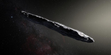 1I eso artistimpression 386x193 There is an asteroid flying through space...and it looks like a giant joint