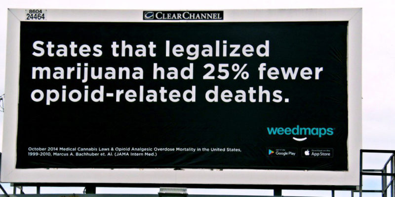 Activists buying billboards to show cannabis can treat opioid addiction 2 of 2 800x400 Indiana NORML seeks to combat the states opioid crisis with commonsense cannabis billboards