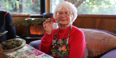 EggNugWithNonnaMarijuana 386x193 Nonna Marijuana teaches you how to make cannabis infused Egg Nug