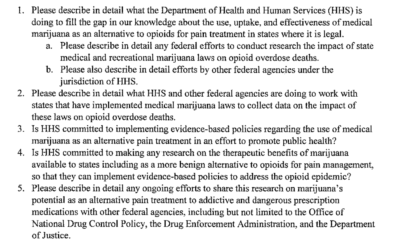 Screen Shot 2017 12 20 at 7.20.03 AM Read the letter where 20 Congressmen demand the feds look into pot for opioid abuse